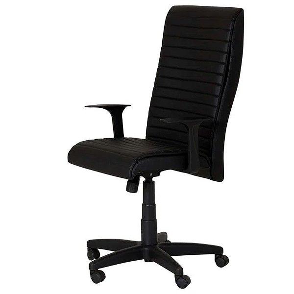 Cadeira CEO Executiva Alta De Escritório Preta - OPT
