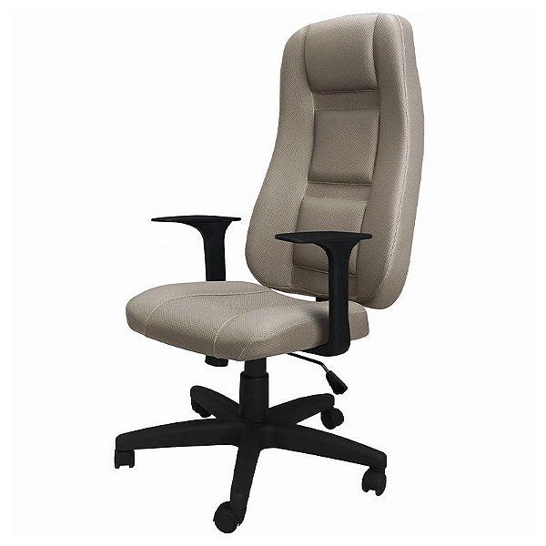 Cadeira Ergo Executiva de Escritório Bege - OPT