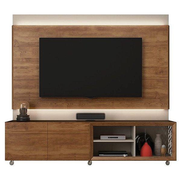 Rack Com Painel Para TV até 72 Polegadas Mosaic Líder Design