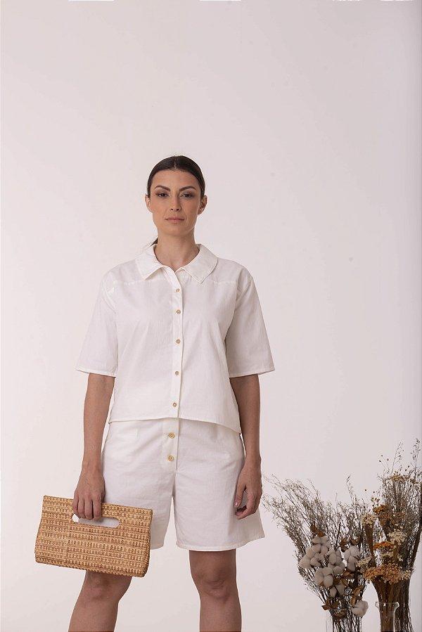 Camisa Branca Reconecta - Algodão Orgânico