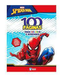 MARVEL 100 PAGINAS PARA COLORIR- SPIDERMAN