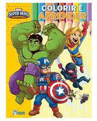 COLORIR E APRENDER- SUPER HERO ADVENTURES