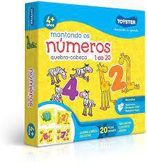 QUEBRA CABEÇA MONTANDO OS NUMEROS DE 1 A 20