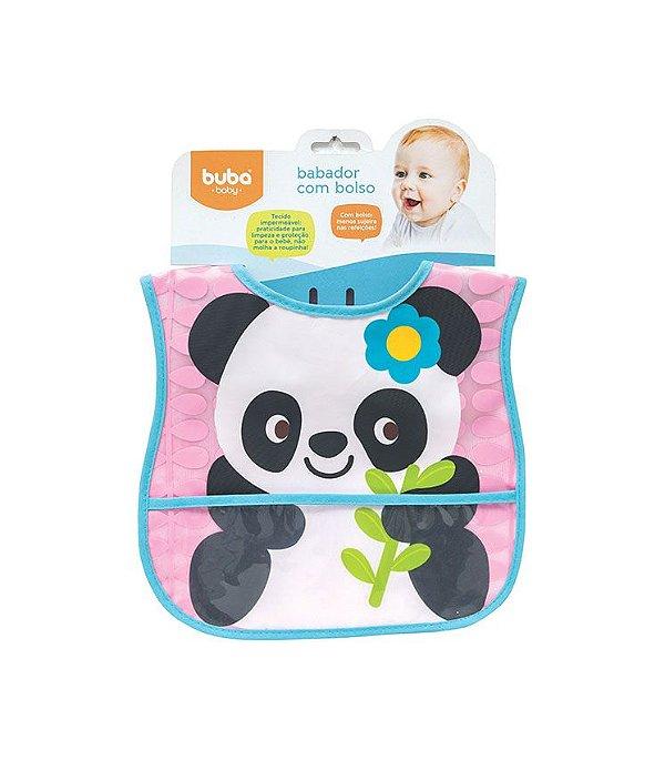 Babador com bolso Ursinho Panda
