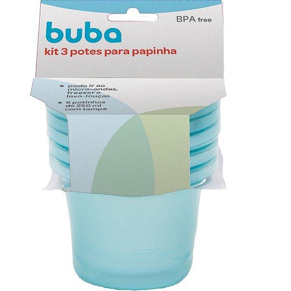 Kit 3 Potes para Papinha - Azul