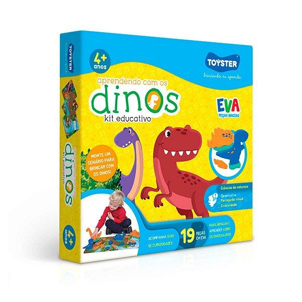 Aprendendo com os Dinos - Kit Educativo com peças em EVA