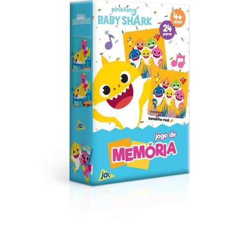 JOGO DE MEMORIA BABY SHARK (COM 24 PECAS)