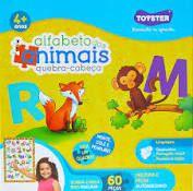 QUEBRA CABECA QUADRAO 60PC ALFABETO DOS ANIMAIS
