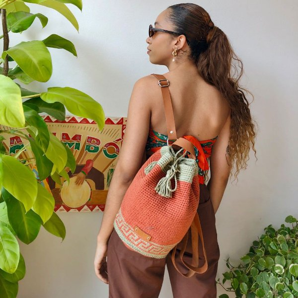 Mochila Saco Artesanal com Tassel Natureza