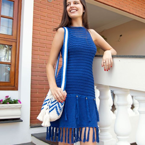 Vestido de Tricot Tassel