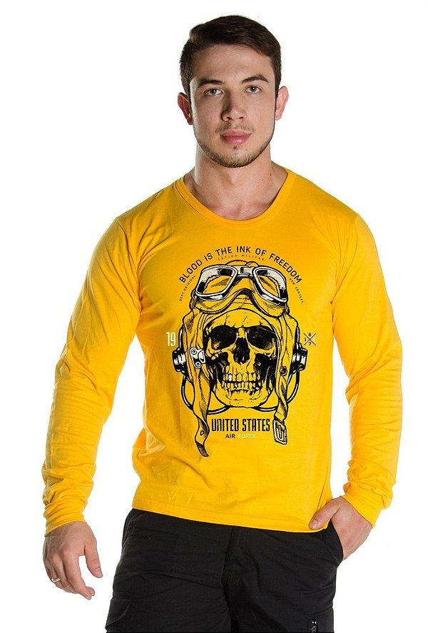 Camiseta Manga Longa Air Skull