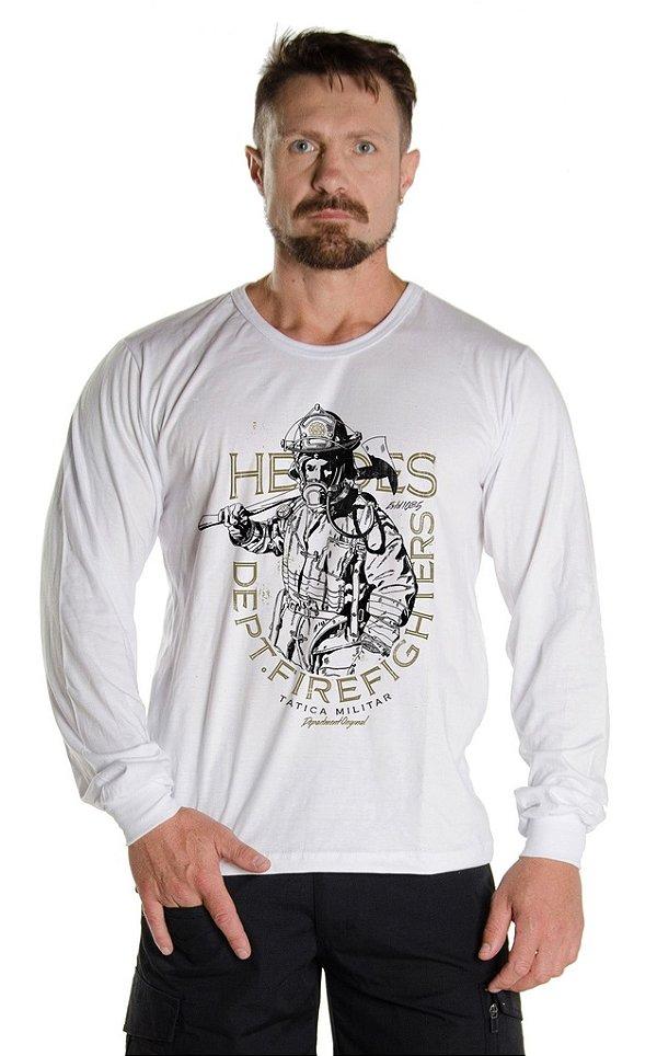 Camiseta Manga Longa Bombeiros