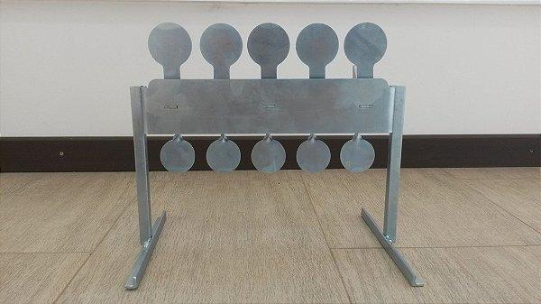 Alvo Metálico Rearmável 2,65mm