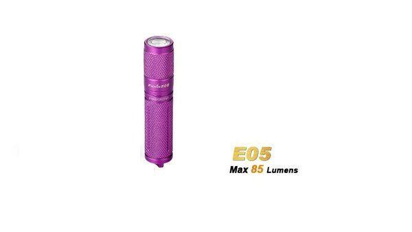 Lanterna Fenix E5 Roxa - 85 Lumens