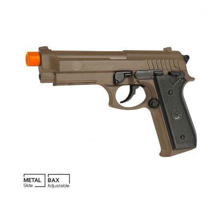 Pistola Airsoft Taurus PT92 Tan Mola Slide Metal 6mm