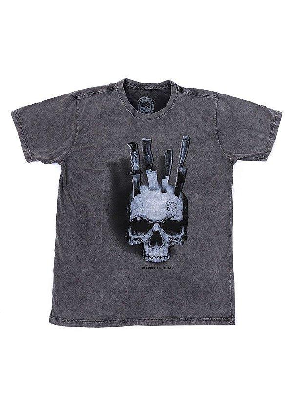Camiseta Black Flag Caveira