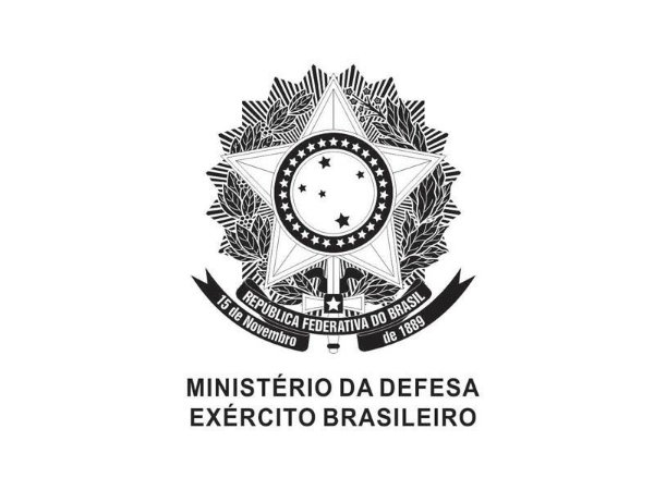Adesivo Minist. Defesa Brasão República Negativo