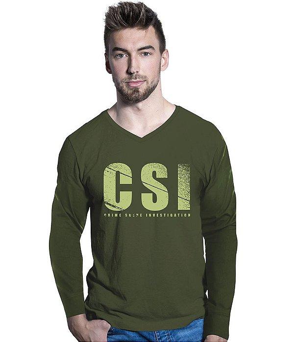 Camiseta Manga Longa CSI