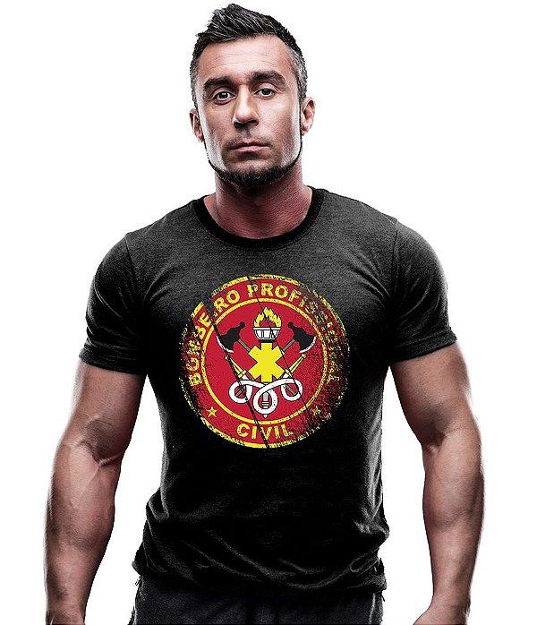 Camiseta Estampada Bombeiro Civil