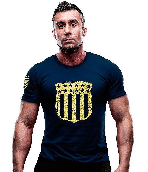 Camiseta Estampada EUA Justice