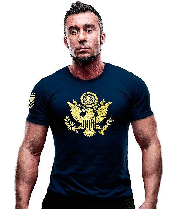 Camiseta Estampada EUA Águia