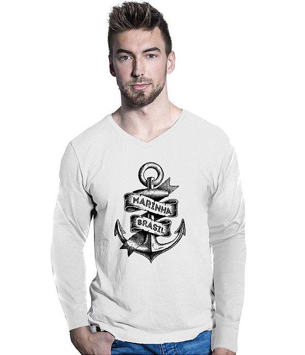 Camiseta Manga Longa Marinha