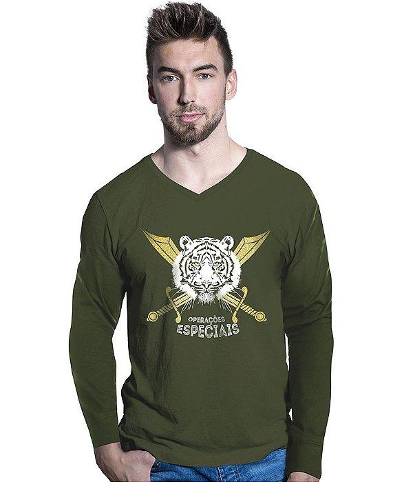Camiseta Manga Longa Forças Especiais Selva