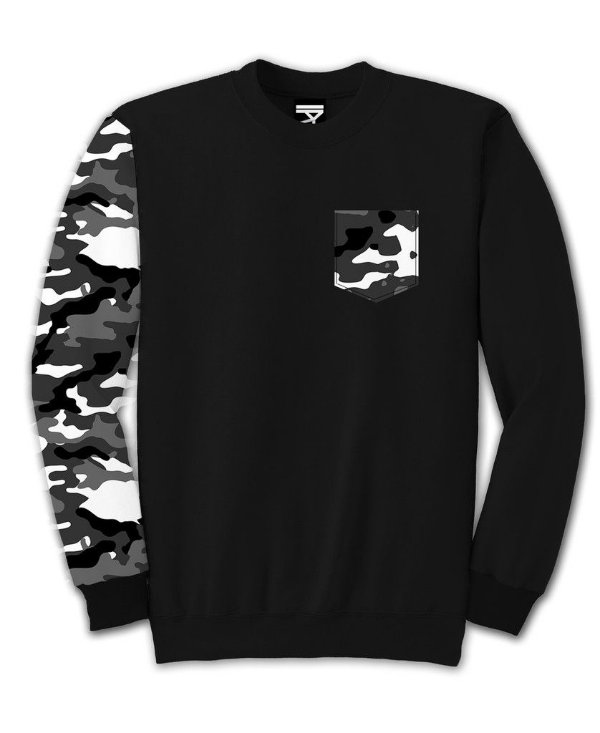 Moletom Fechado Camo Gray One