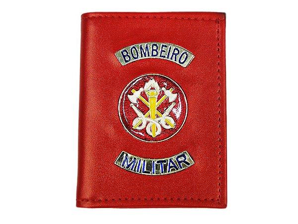 Carteira com Brasão Bombeiro Militar Vermelha (5 Unidades)
