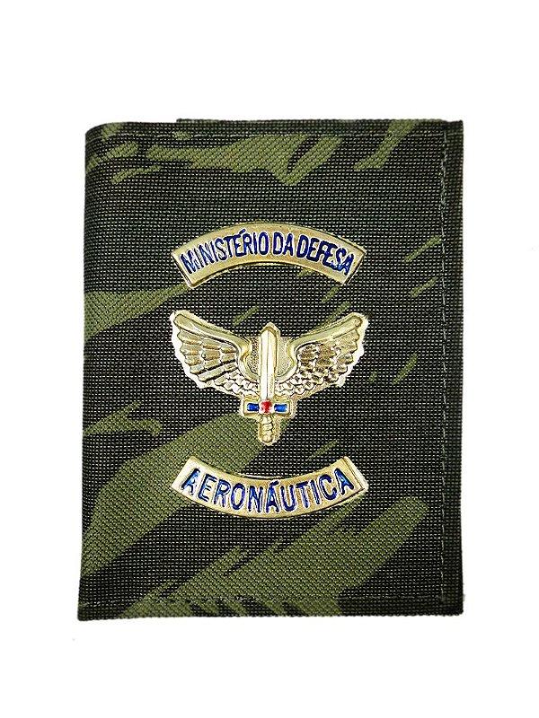 Carteira com Brasão Dourado Ministério da Defesa Aeronáutica CMF EB (5 Unidades)