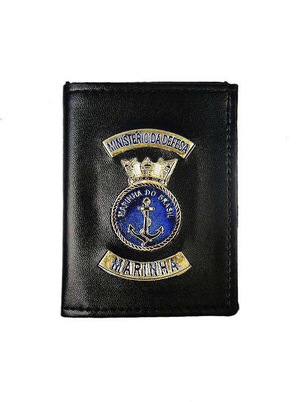 Carteira Ministério da Defesa Marinha Preta (5 Unidades)