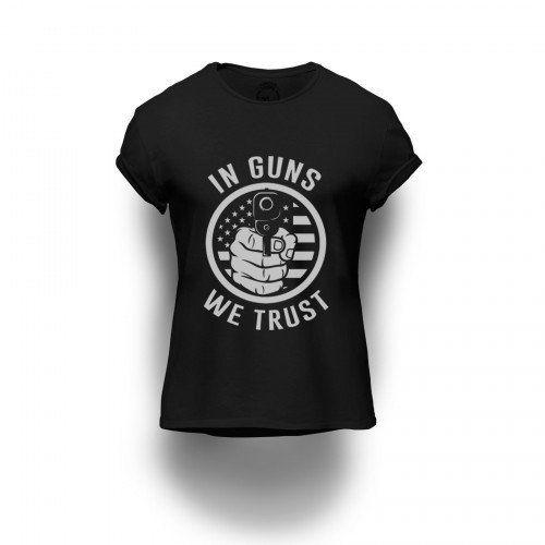 Camiseta Estampada In Guns We Trust