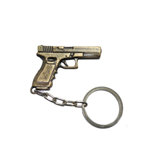 Chaveiro de Metal Glock - Cromado ou Dourado