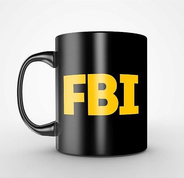Caneca FBI Preta