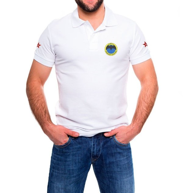 Camisa Masculina Gola Polo Branca Spetsnaz