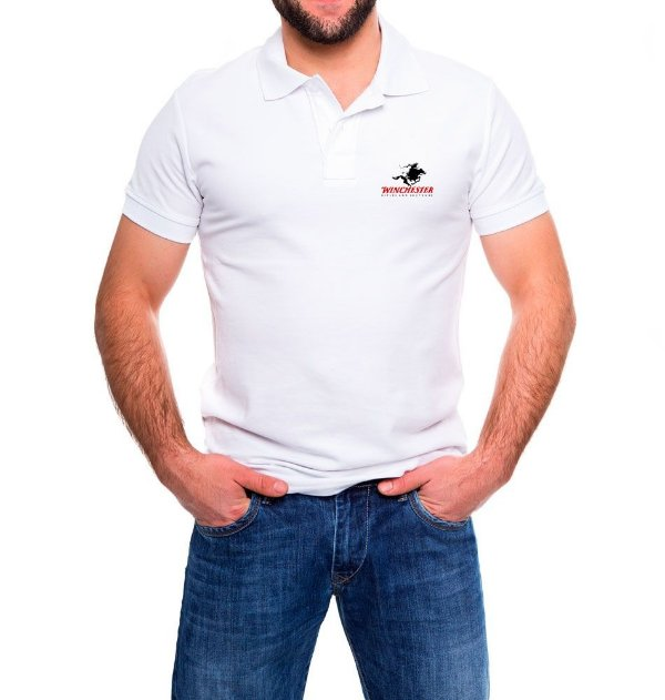 Camisa Masculina Gola Polo Branca Winchester