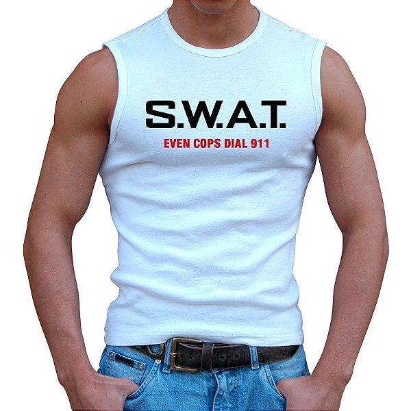 Regata Masculina Branca SWAT