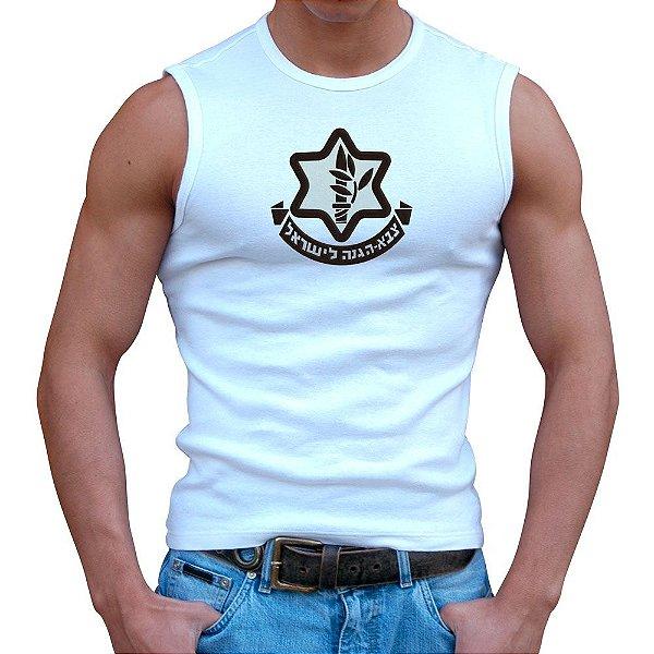 Regata Masculina Branca Israel Defense Forces