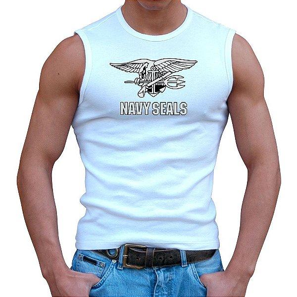 Regata Masculina Branca Navy Seals