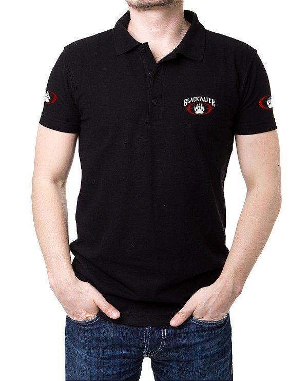 Camisa Masculina Gola Polo Preta Blackwater