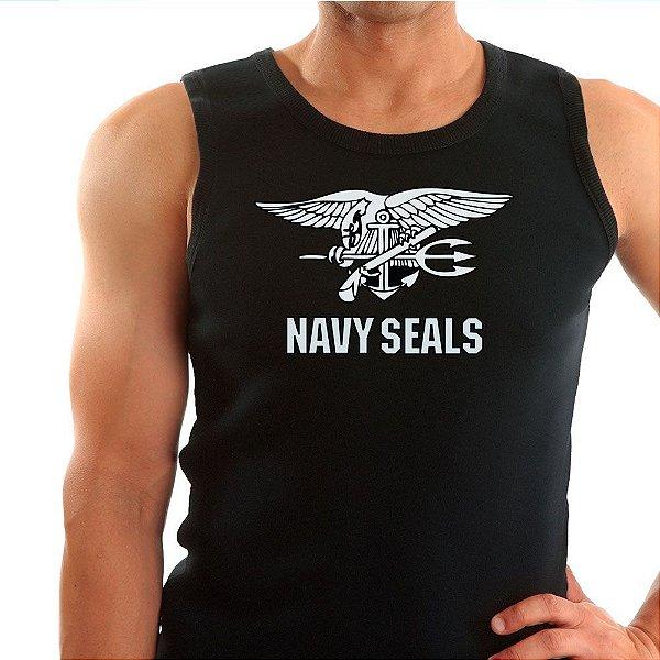 Regata Masculina Preta Navy Seals