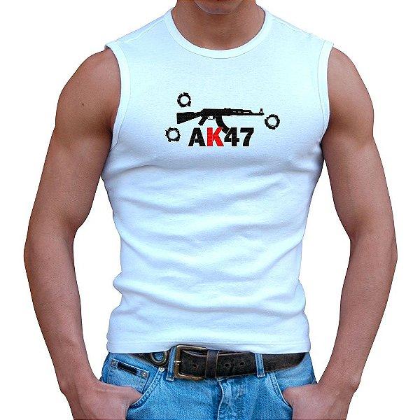 Regata Masculina Branca AK47
