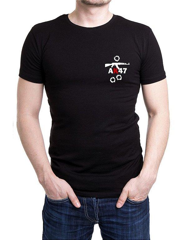Camiseta Bordada AK47 Preta
