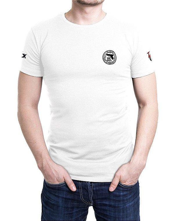 Camiseta Bordada Glock Action Branca