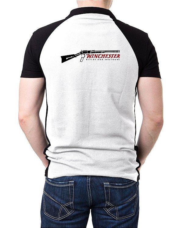 Camisa Gola Polo Winchester - Branco e Preto