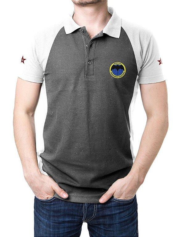 Camisa Gola Polo Spetsnaz - Cinza e Branco