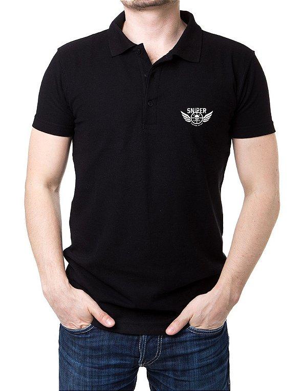Camisa Gola Polo Sniper Preto