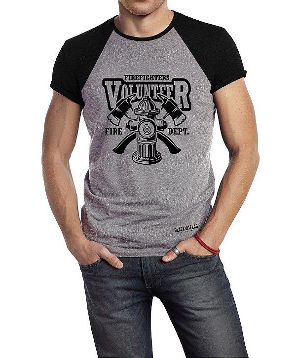 Camiseta Estampada - Bombeiro Volunter Duas Cores