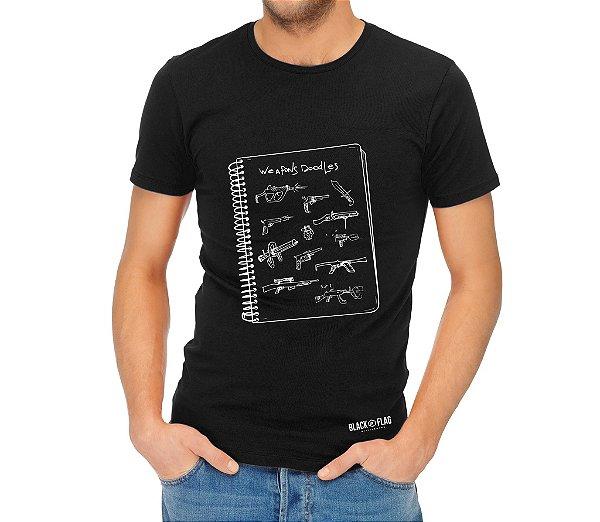 Camiseta Estampada - Rascunho