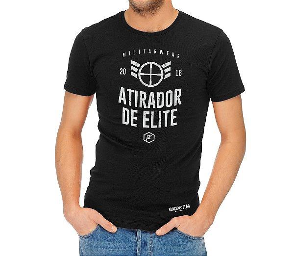 Camiseta Estampada - Elite Preta